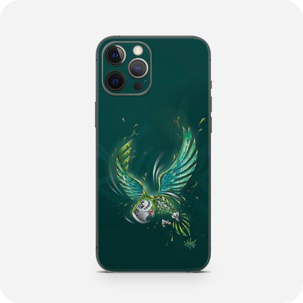 "GREEN MNKY Backcover Skin Smartphone 7"" (Jayn Kollektion) ""Parrot"" [3 Stück]"