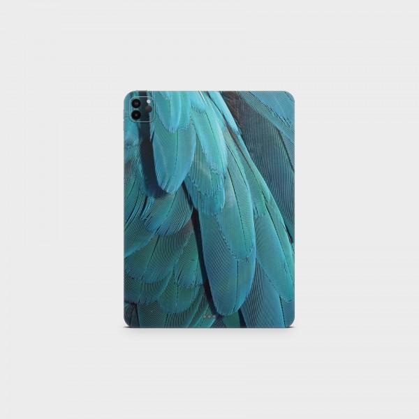 "GREEN MNKY Backcover Skin Tablet 11"" (Struktur Serie) ""Blue Feather Dream"" [3 Stück]"