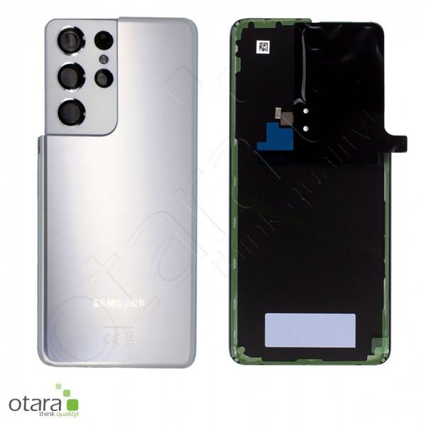 Akkudeckel Samsung Galaxy S21 Ultra (G998), phantom silver, Serviceware