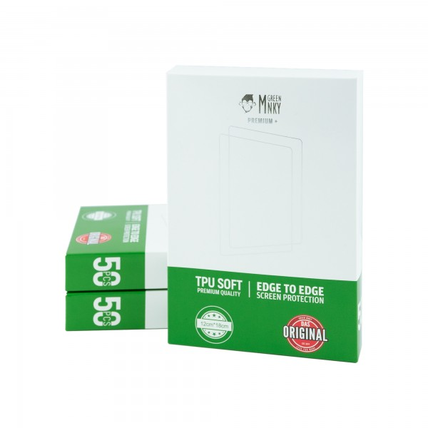 GREEN MNKY Displayschutzfolie Premium+ Tablet [20er Pack]