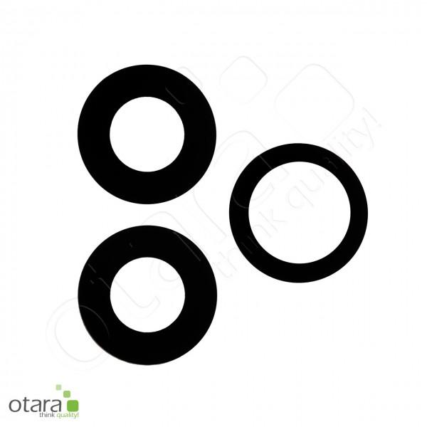 Kameraglas Linse (mit Rahmen) geeignet für iPhone 11 Pro/11 Pro Max (Set aus 3), schwarz