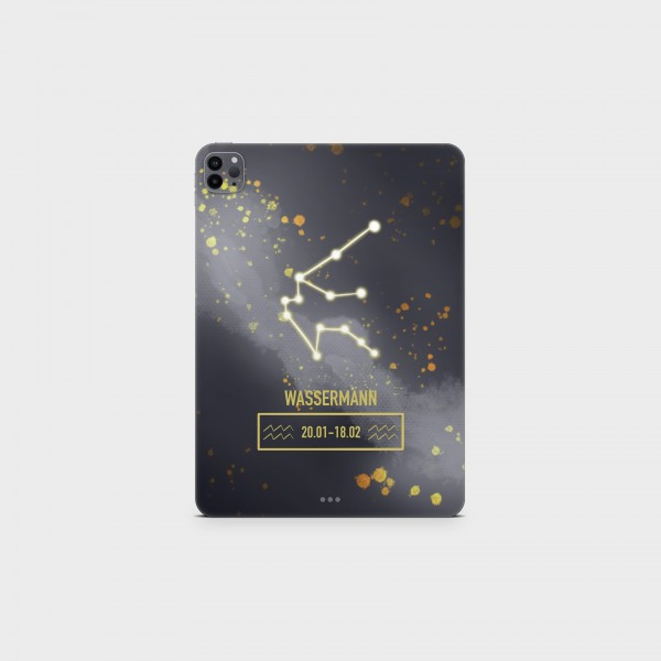 "GREEN MNKY Backcover Skin Tablet 11"" (Zodiac Serie) ""Wassermann Zodiac"" [3 Stück]"