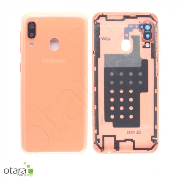 Akkudeckel Samsung Galaxy A20E (A202F), coral orange, Serviceware