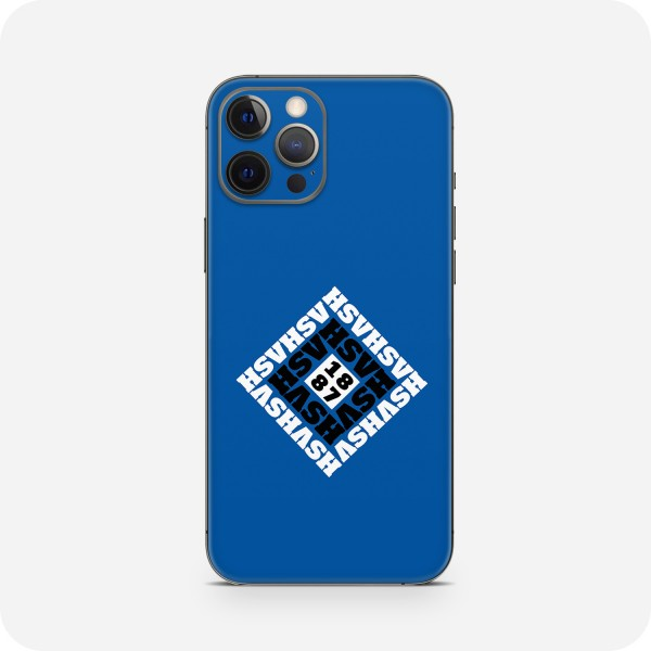 "GREEN MNKY Backcover Skin Smartphone 7"" (HSV Kollektion) ""HSV Monogramm Small Blue"" [3 Stück]"