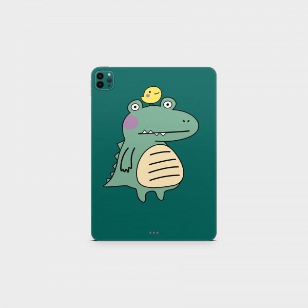 "GREEN MNKY Backcover Skin Tablet 11"" (Design Serie) ""Mr. Croco"" [3 Stück]"