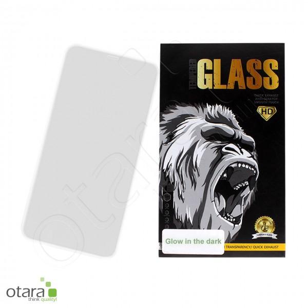 Schutzglas Edge to Edge (glow in the dark) iPhone 12 Pro Max, weiß