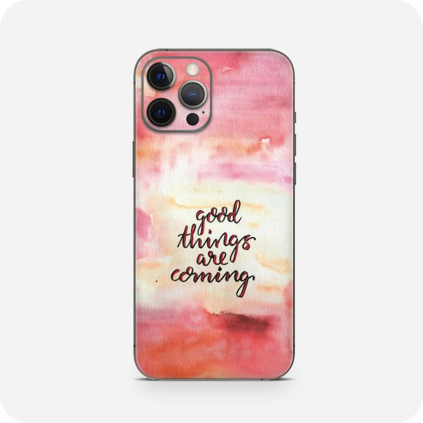 """GREEN MNKY Backcover Skin Smartphone 7"""" (Diana Grimm Kollektion) """"Good things are coming"""" [3 Stück]"""