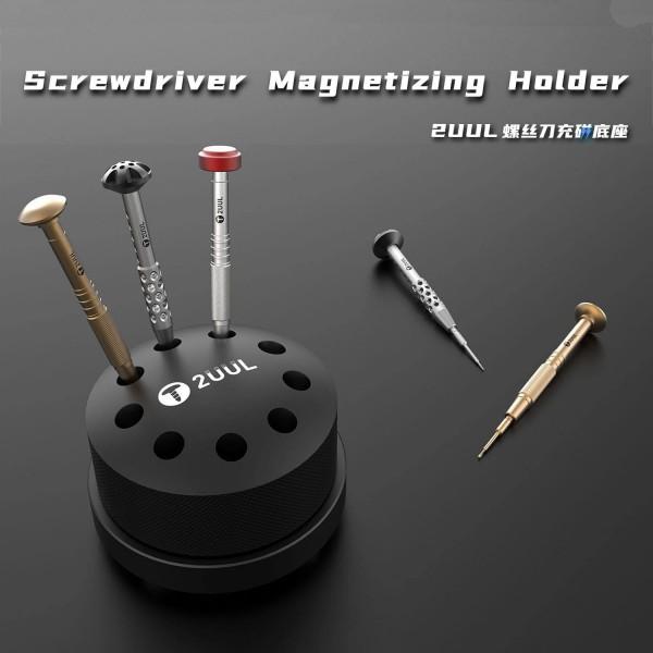 Werkzeug Halterung 2UUL, Karussell für 9 Schraubendreher, 360° drehbar, magnetisch, schwarz