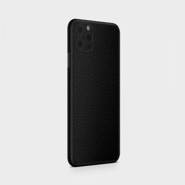 """GREEN MNKY Backcover Skin Smartphone 7"""" (Struktur Serie) """"Lederoptik Black"""" [3 Stück]"""