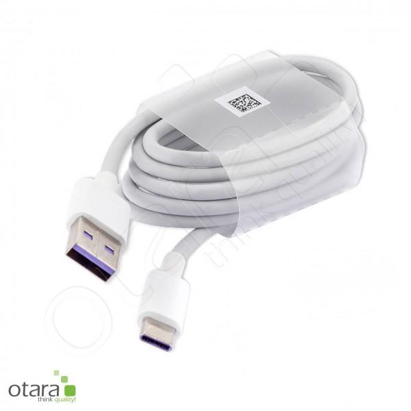Ladekabel USB auf USB-C geeigent für Huawei SuperCharge 2.0, 1m, weiß