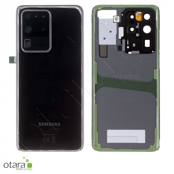 Akkudeckel Samsung Galaxy S20 Ultra (G988B), cosmic black, Serviceware