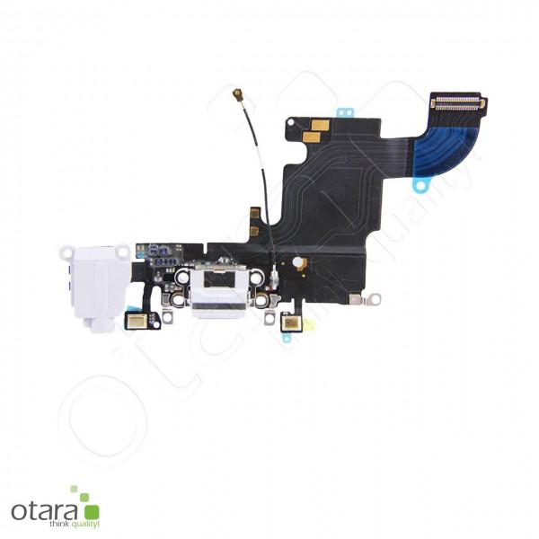 Lade Konnektor + Audio + Mikrophon Flexkabel geeignet für iPhone 6s, weiß