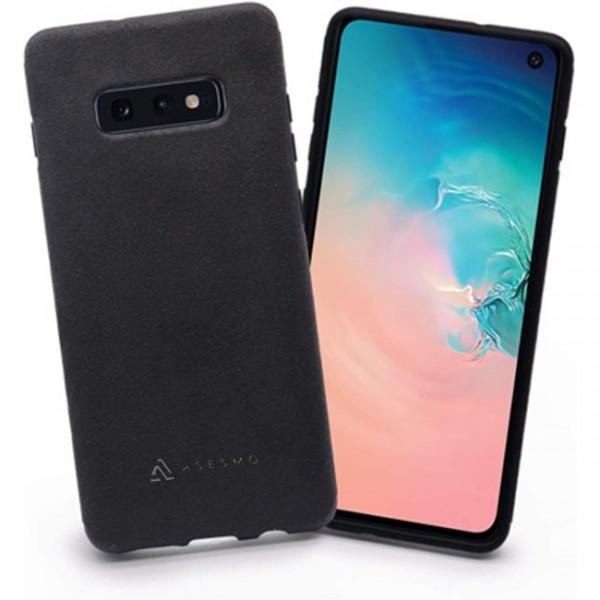 ASESMO Alcantara Handyhülle für Samsung Galaxy S10e, schwarz