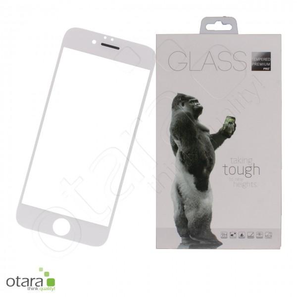 Schutzglas Premium 11D für iPhone 6/6s, weiß