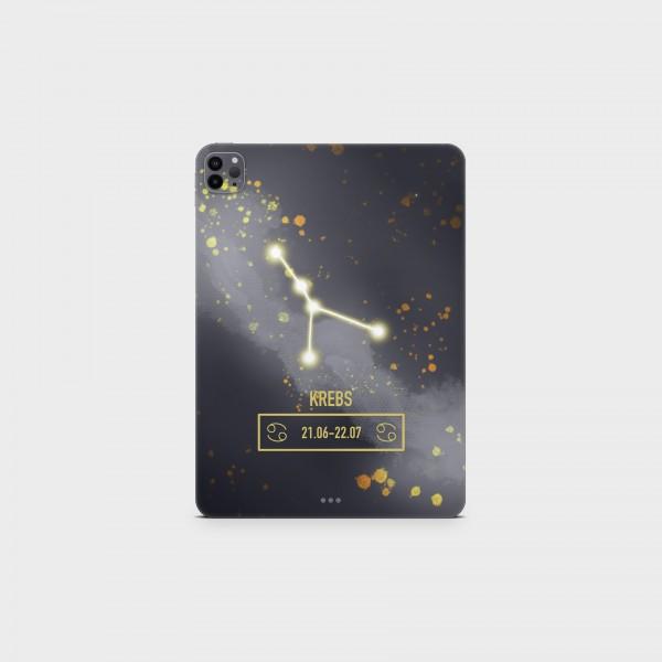 """GREEN MNKY Backcover Skin Tablet 11"""" (Zodiac Serie) """"Krebs Zodiac"""" [3 Stück]"""