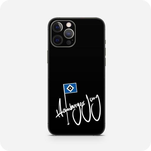 "GREEN MNKY Backcover Skin Smartphone 7"" (HSV Kollektion) ""Hamburger Jung Flag Black"" [3 Stück]"