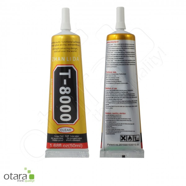 Flüssigkleber T-8000, transparent, 50ml