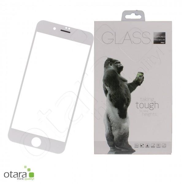 Panzerglas Premium 11D für iPhone 7 Plus und iPhone 8 Plus, weiß