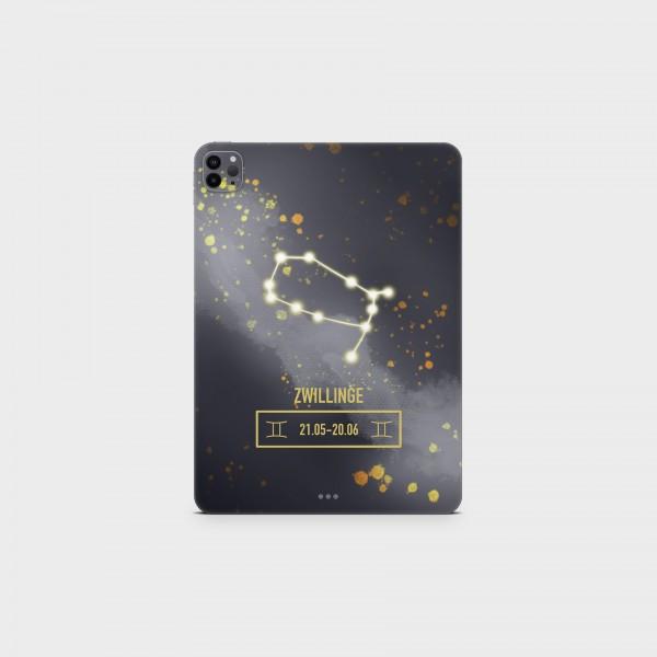 "GREEN MNKY Backcover Skin Tablet 11"" (Zodiac Serie) ""Zwillinge Zodiac"" [3 Stück]"
