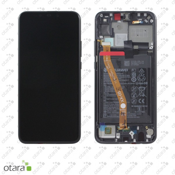 Displayeinheit inkl. Rahmen, Akku Huawei P Smart Plus 2018 (INE-LX1), black, Serviceware