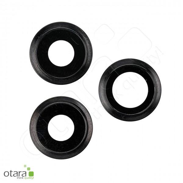Kameraglas Linse (mit Rahmen) geeignet für iPhone 11 Pro/11 Pro Max [3 Stück], schwarz