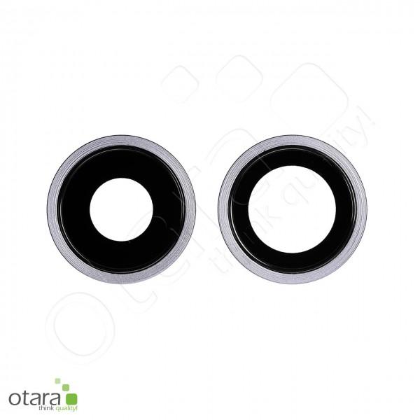 Kameraglas Linse (mit Rahmen) geeignet für iPhone 11 (2er Set), viloett