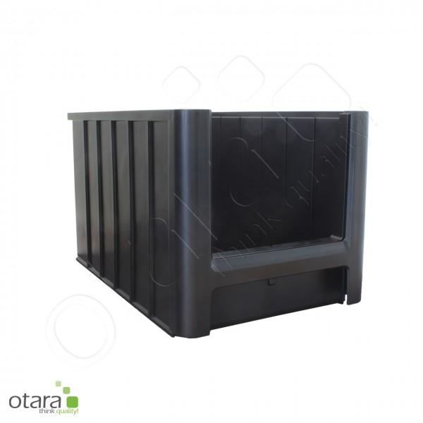 Sichtlagerkasten 350x210x200 mm, ESD, leitfähig, schwarz