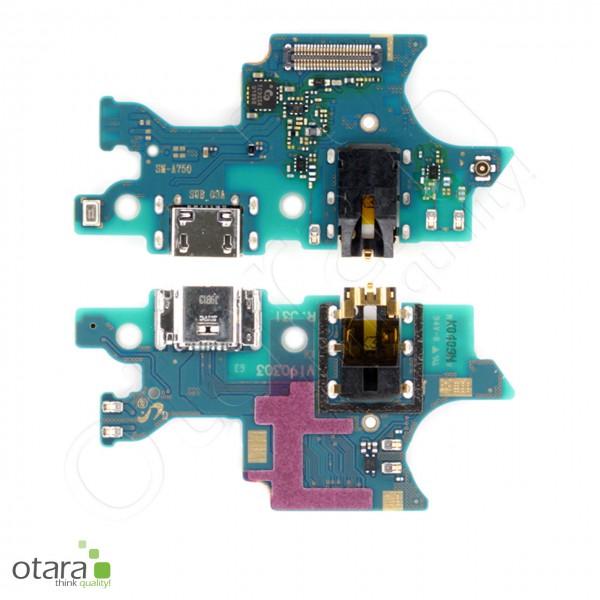 Samsung Galaxy A7 2018 (A750F) Ladebuchse Platine mit Micro USB, Mikrofon, Serviceware