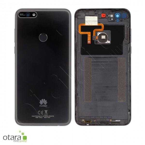 Akkudeckel Huawei Y7 2018, schwarz, Serviceware