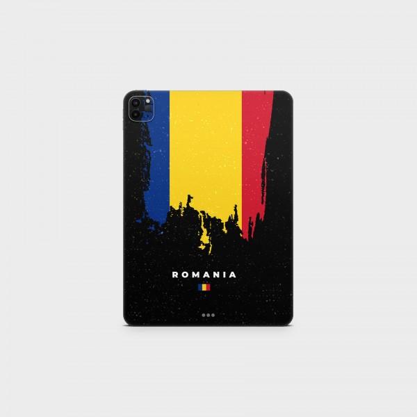 "GREEN MNKY Backcover Skin Tablet 11"" (Flags Serie) ""Romania Flag"" [3 Stück]"