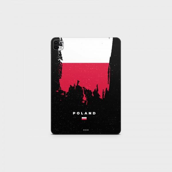 "GREEN MNKY Backcover Skin Tablet 11"" (Flags Serie) ""Poland Flag"" [3 Stück]"