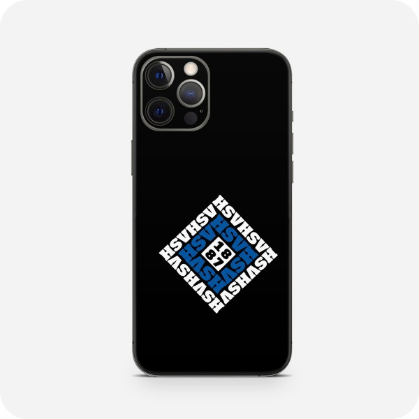 "GREEN MNKY Backcover Skin Smartphone 7"" (HSV Kollektion) ""HSV Monogramm Small Black"" [3 Stück]"