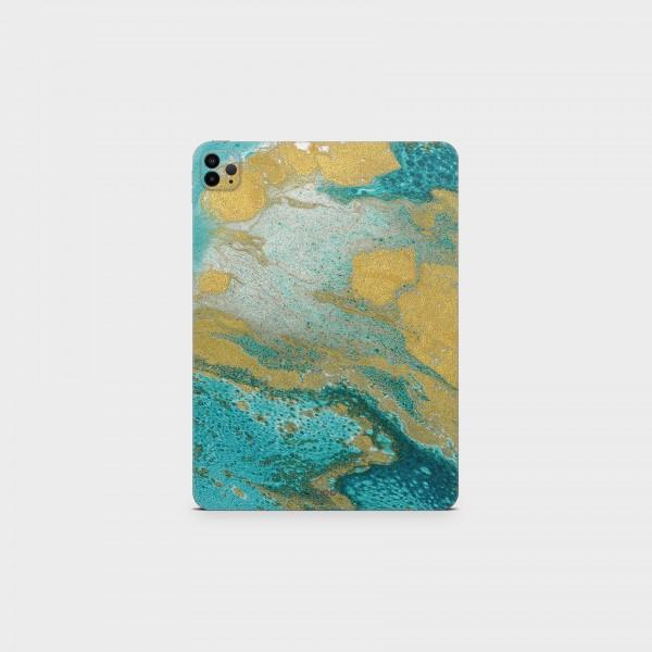 "GREEN MNKY Backcover Skin Tablet 11"" (Struktur Serie) ""Golden Blue"" [3 Stück]"