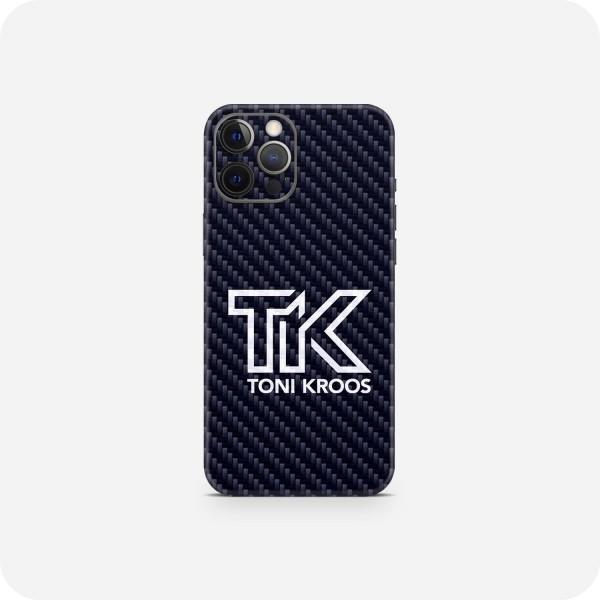 "GREEN MNKY Backcover Skin Smartphone 7"" (Toni Kroos Kollektion) ""TK Blue Carbon"" [3 Stück]"