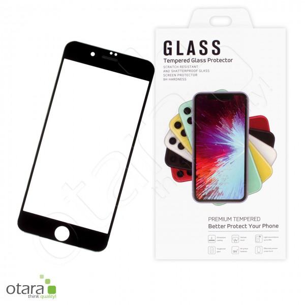 Schutzglas PREMIUM Edge to Edge iPhone 7 Plus/8 Plus, schwarz
