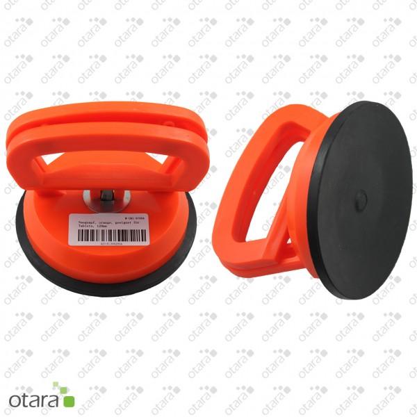 Saugnapf, orange, geeignet für Tablets, 120mm