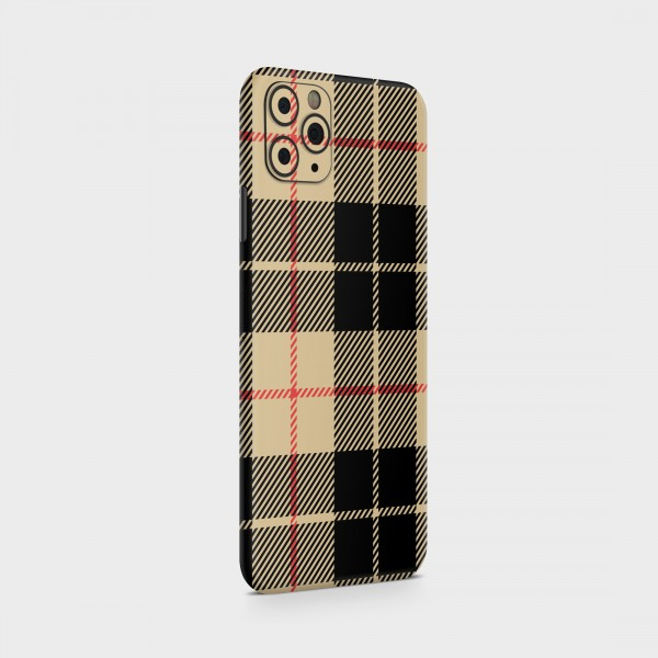 "GREEN MNKY Backcover Skin Smartphone 7"" (Scottish Serie) ""Scottish Caro black/brown"" [3 Stück]"