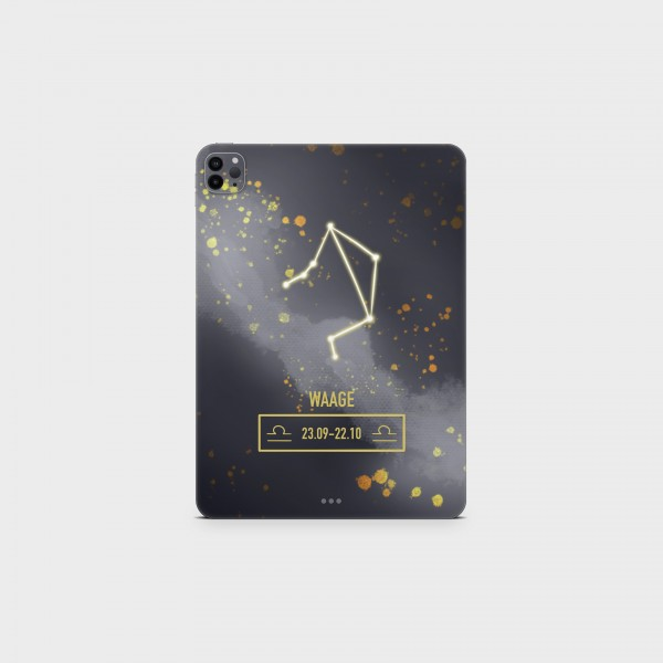 "GREEN MNKY Backcover Skin Tablet 11"" (Zodiac Serie) ""Waage Zodiac"" [3 Stück]"
