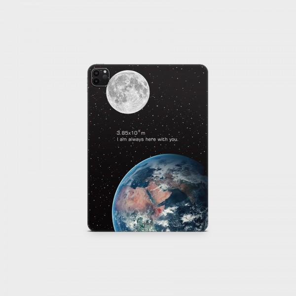 "GREEN MNKY Backcover Skin Tablet 11"" (Design Serie) ""Earth Moon"" [3 Stück]"