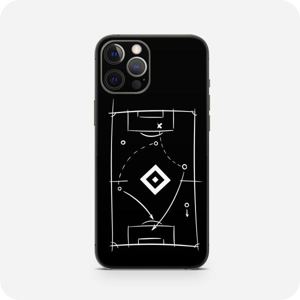 """GREEN MNKY Backcover Skin Smartphone 7"""" (HSV Kollektion) """"HSV Tactic Board Black """" [3 Stück]"""