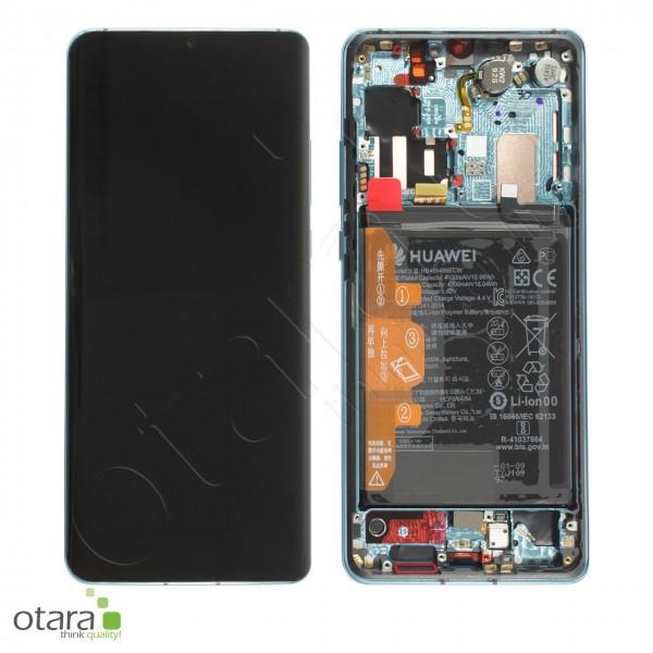 Displayeinheit Huawei P30 Pro, aurora blue, Serviceware