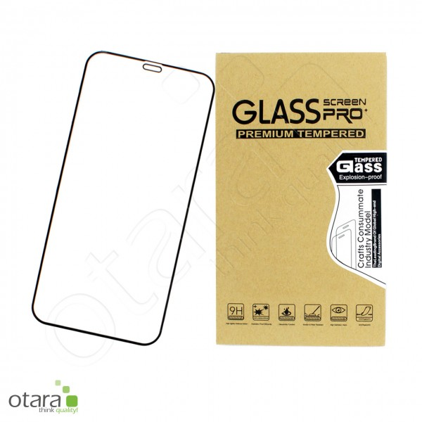 Schutzglas Edge to Edge iPhone 12/12 Pro, schwarz