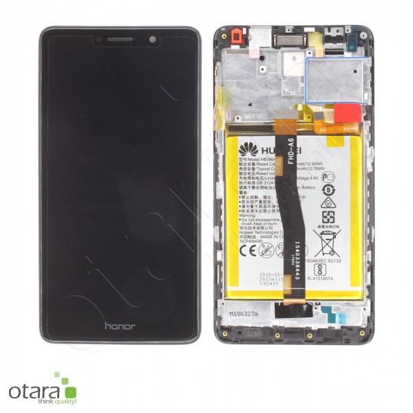 Displayeinheit inkl. Rahmen, Akku Huawei Honor 6X (BLN-L21), Mate 9 Lite, black, Serviceware