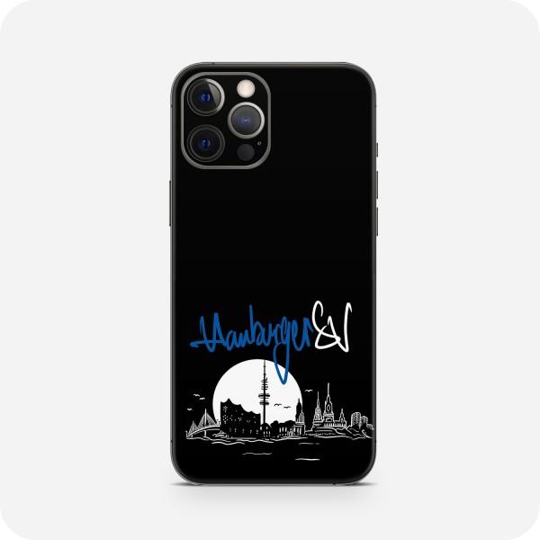 "GREEN MNKY Backcover Skin Smartphone 7"" (HSV Kollektion) ""Hamburger SV Skyline Black Moon"" [3 Stück]"