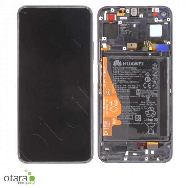 Displayeinheit inkl. Rahmen, Akku Huawei Honor 20, Nova 5T, midnight black, Serviceware