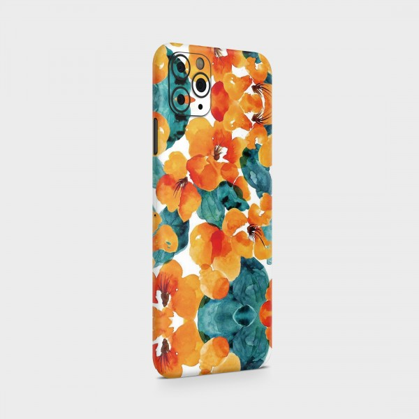 """GREEN MNKY Backcover Skin Smartphone 7"""" (Design Serie) """"Stamping Flowers"""" [3 Stück]"""