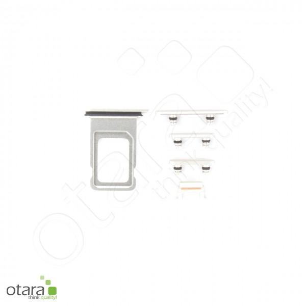 Seitentasten Set inkl. SIM Tray, 5-teilig geeignet für iPhone 11, silber