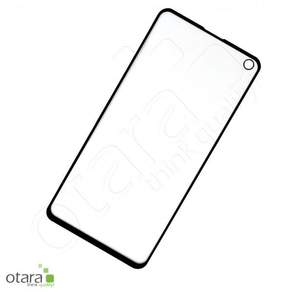 Schutzglas Edge to Edge für Samsung Galaxy S10 Lite, schwarz