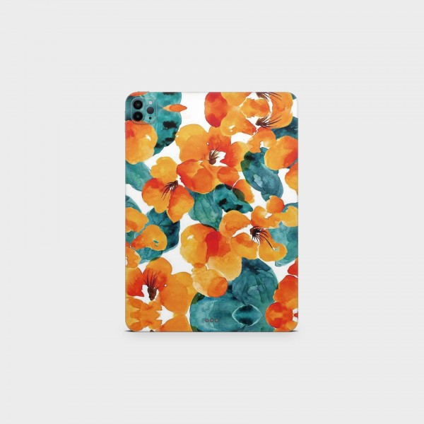 """GREEN MNKY Backcover Skin Tablet 11"""" (Design Serie) """"Stamping Flowers"""" [3 Stück]"""