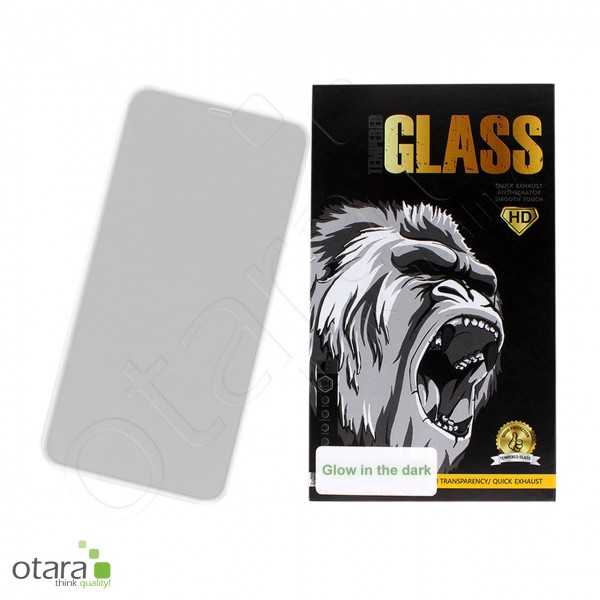 Schutzglas Edge to Edge (glow in the dark) iPhone XS Max/11 Pro Max, weiß